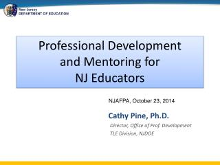 Professional Development and Mentoring for NJ Educators