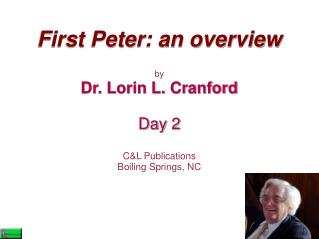 First Peter: an overview