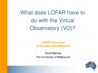 What does LOFAR have to do with the Virtual Observatory (VO)?