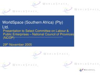 WorldSpace (Southern Africa) (Pty) Ltd.