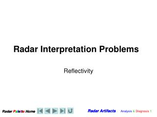 Radar Interpretation Problems