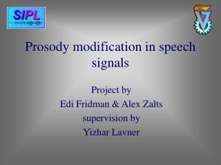 Prosody modification in speech signals
