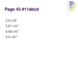 Page 43 #11abcd