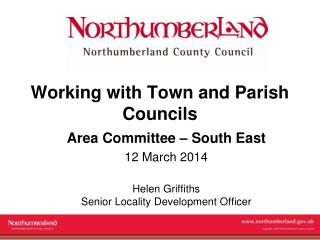 Working with Town and Parish Councils