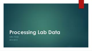 Processing Lab Data