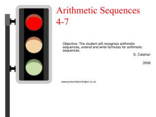 Arithmetic Sequences 4-7