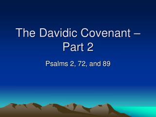 The Davidic Covenant – Part 2