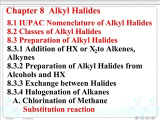 Chapter 8  Alkyl Halides