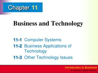 Business and Technology