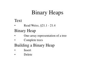 Binary Heaps