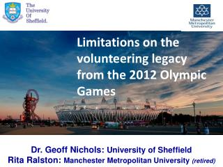 Limitations on the volunteering legacy  from the 2012 Olympic Games