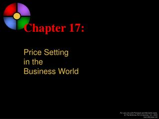 Chapter 17: Price Setting  in the  Business World