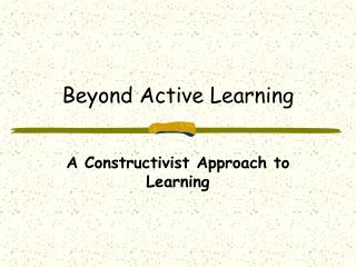 Beyond Active Learning