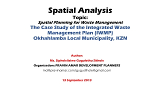 Spatial Data and GIS