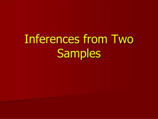 Inferences from Two Samples