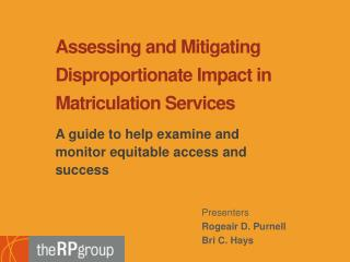 Assessing and Mitigating Disproportionate Impact in Matriculation Services