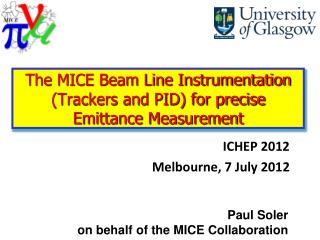 The MICE Beam Line Instrumentation (Trackers and PID) for precise Emittance Measurement
