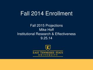 Fall 2014 Enrollment