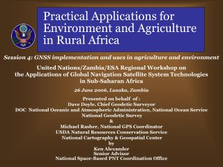 Practical Applications for Environment and Agriculture in Rural Africa
