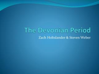 The Devonian Period