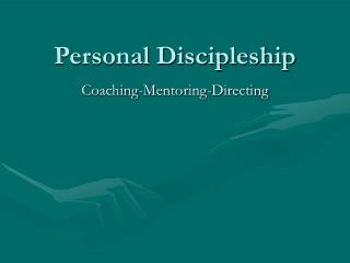 Personal Discipleship
