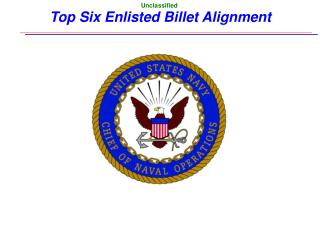 Top Six Enlisted Billet Alignment