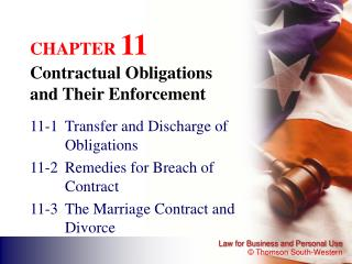 CHAPTER  11 Contractual Obligations  and Their Enforcement