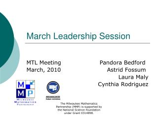 March Leadership Session