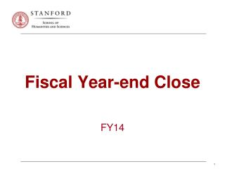 Fiscal Year-end Close