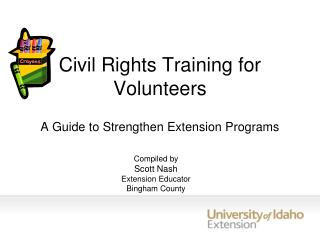 Civil Rights Training for Volunteers