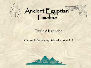 Ancient Egyptian  Timeline