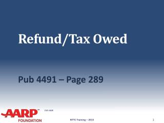 Refund/Tax Owed
