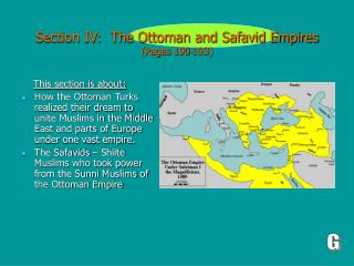 Section IV:  The Ottoman and Safavid Empires (Pages 190-193)