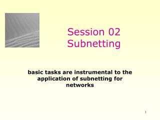 Session 02 Subnetting