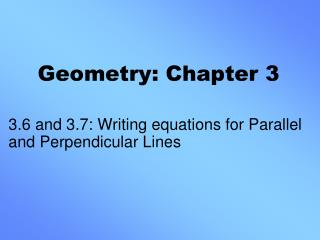 Geometry: Chapter 3