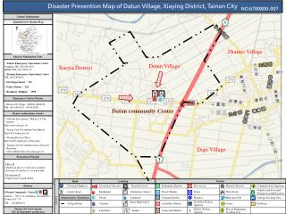 Disaster Prevention Map of Datun Village, Xiaying District, Tainan City