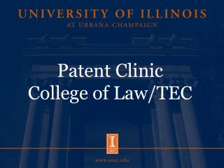 Patent Clinic College of Law/TEC