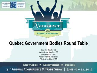Quebec Government Bodies Round Table