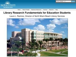 Library Research Fundamentals for Education Students