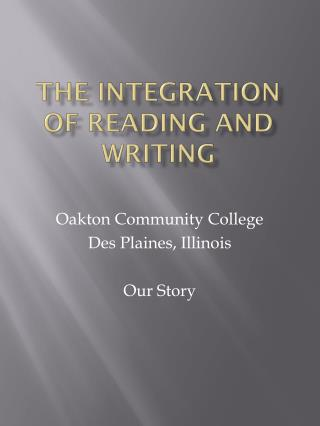 The Integration of Reading and Writing