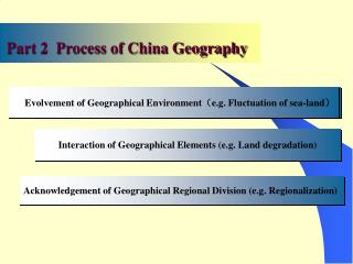 Acknowledgement of Geographical Regional Division (e.g. Regionalization)