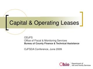 Capital & Operating Leases
