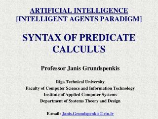 ARTIFICIAL INTELLIGENCE [INTELLIGENT AGENTS PARADIGM]