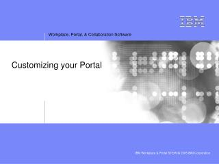 Customizing your Portal