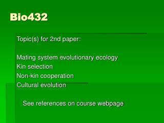 Bio432