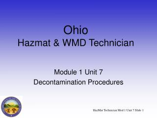 Ohio Hazmat & WMD Technician