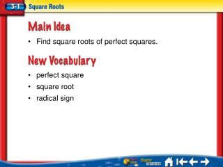 Lesson 3-1 Ideas/Vocabulary