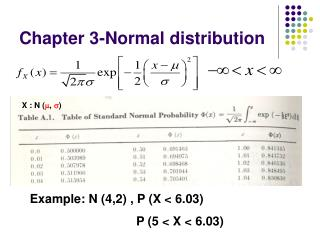 Chapter 3-Normal distribution