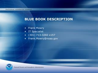 BLUE BOOK DESCRIPTION