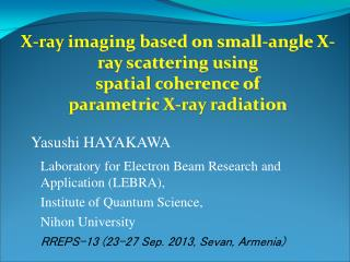 X-ray imaging based on small-angle X-ray scattering using